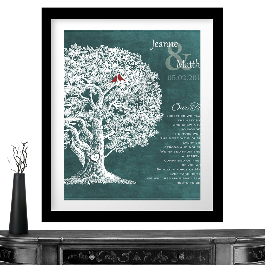 10x10 Personalized Gift For 10th Anniversary Our Family Tree Poem