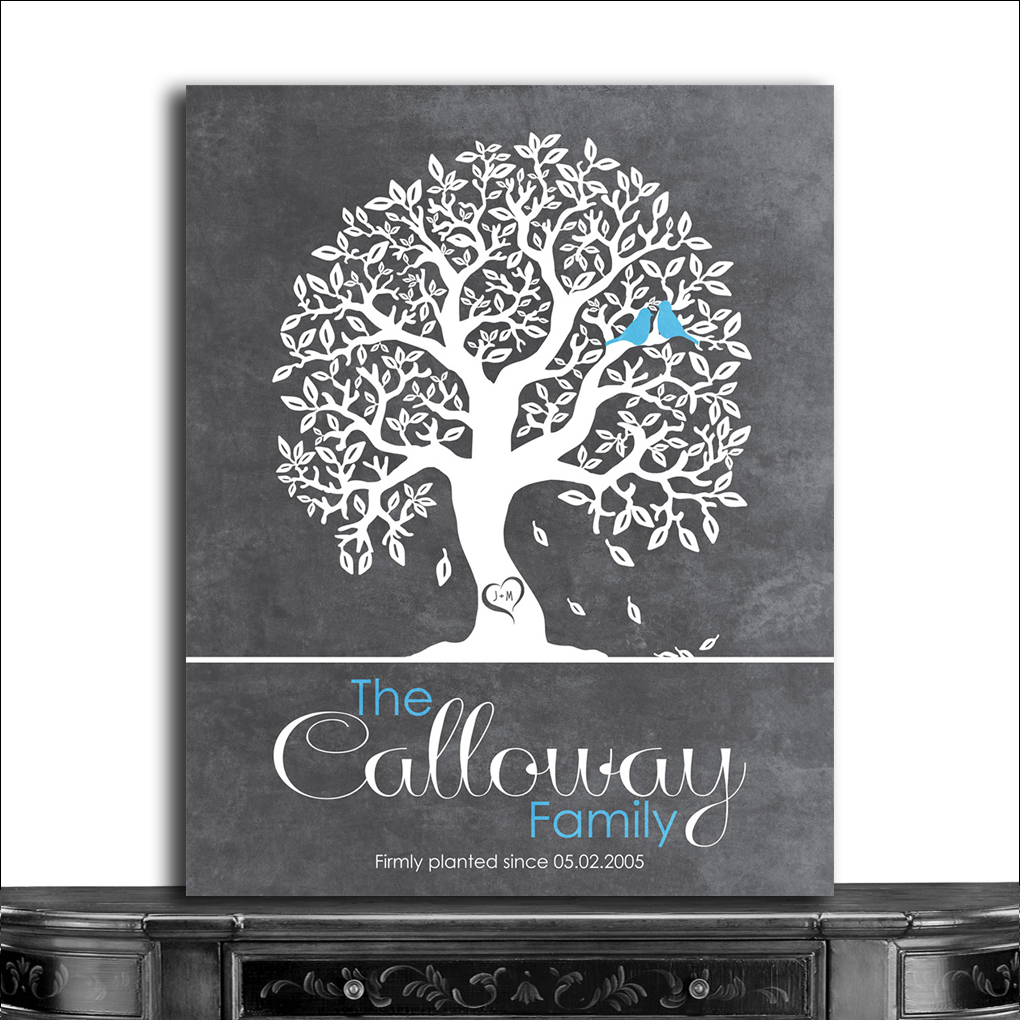 Personalized Wedding Gifts For Couple Uk : ... Print Personalized Gift For Couple Family Tree Anniversary Gift