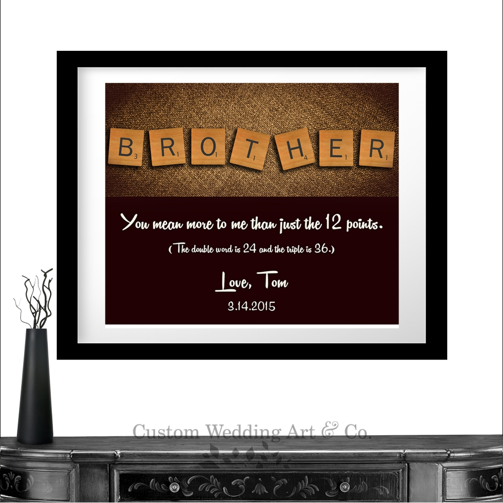 Wedding Present To Brother : ... Gift From Sister or Brother Groomsmen Gift From Groom Custom Wedding
